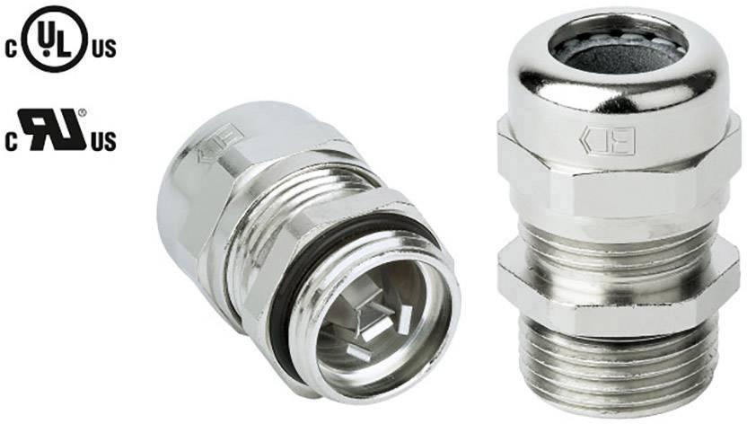 Kabelová průchodka Jacob 50.650 M/EMVD EMS, s odlehčením tahu, mosaz, délka závitu 9 mm, 1 ks