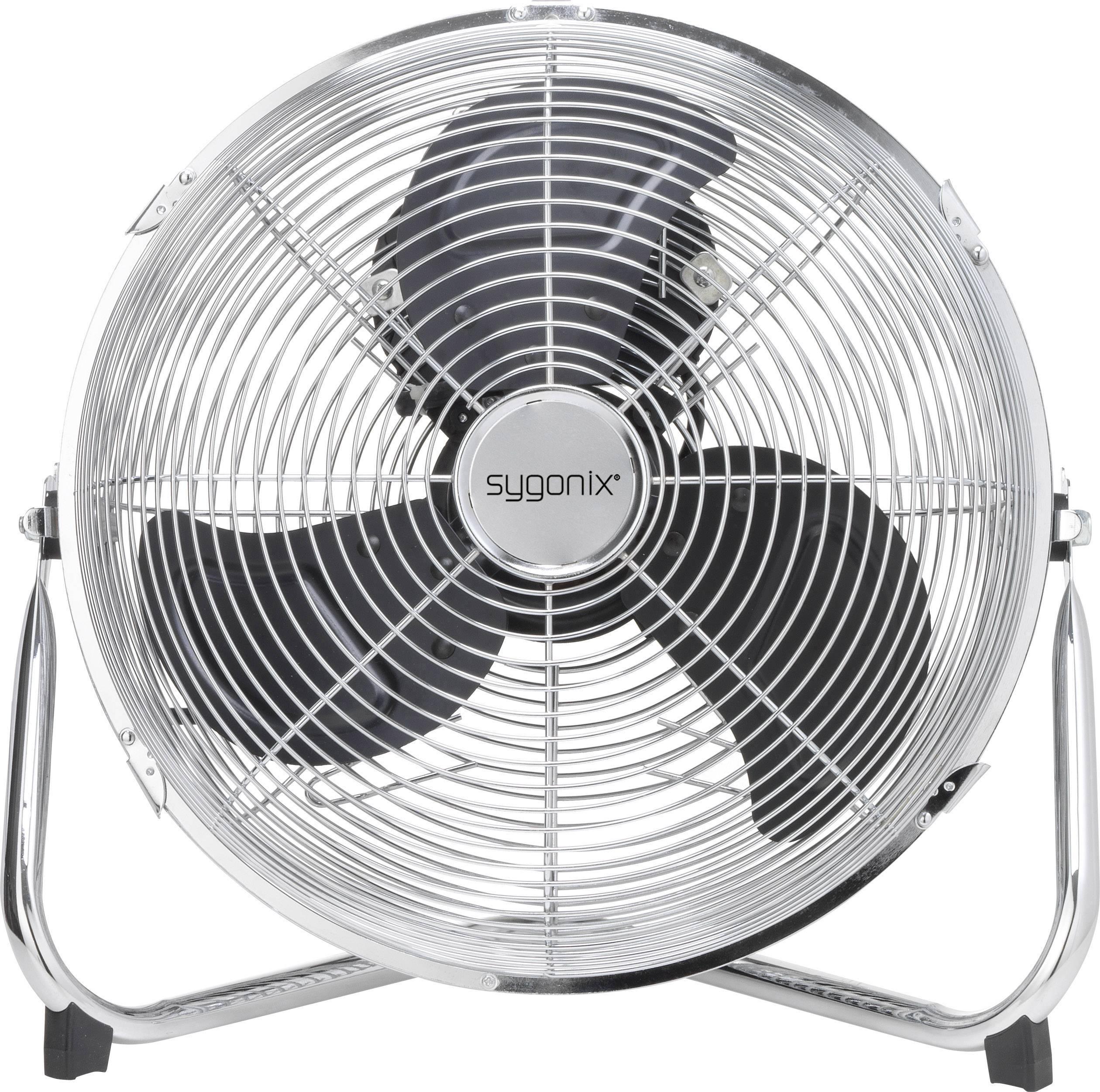 Podlahový ventilátor Sygonix FE-30, 55 W, stříbrná