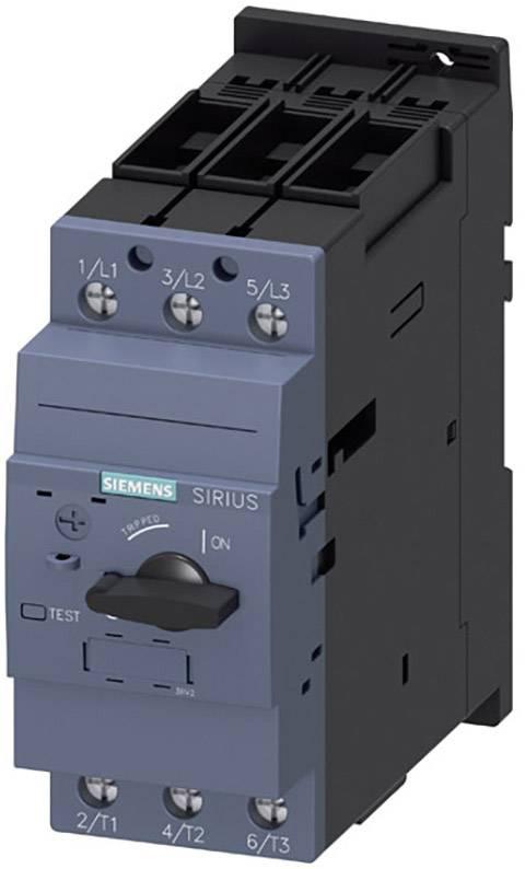 Výkonový vypínač Siemens 3RV2031-4RA10 3 spínací kontakty Rozsah nastavení (proud): 70 - 80 A Spínací napětí (max.): 690 V/AC (š x v x h) 55 x 140 x 149 mm 1 ks