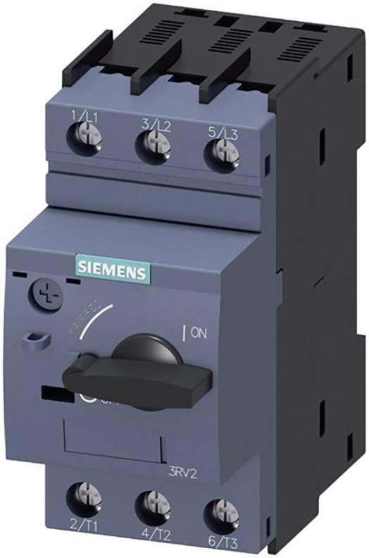 Výkonový vypínač Siemens 3RV2011-1HA10 3 spínací kontakty Rozsah nastavení (proud): 5.5 - 8 A Spínací napětí (max.): 690 V/AC (š x v x h) 45 x 97 x 96 mm 1 ks