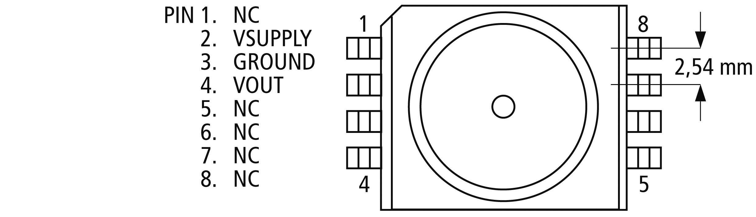 SMD senzor tlaku 20 - 105 kPa Freescale Semiconductor MPXA4100A6U, 18 x 10 x 6 mm