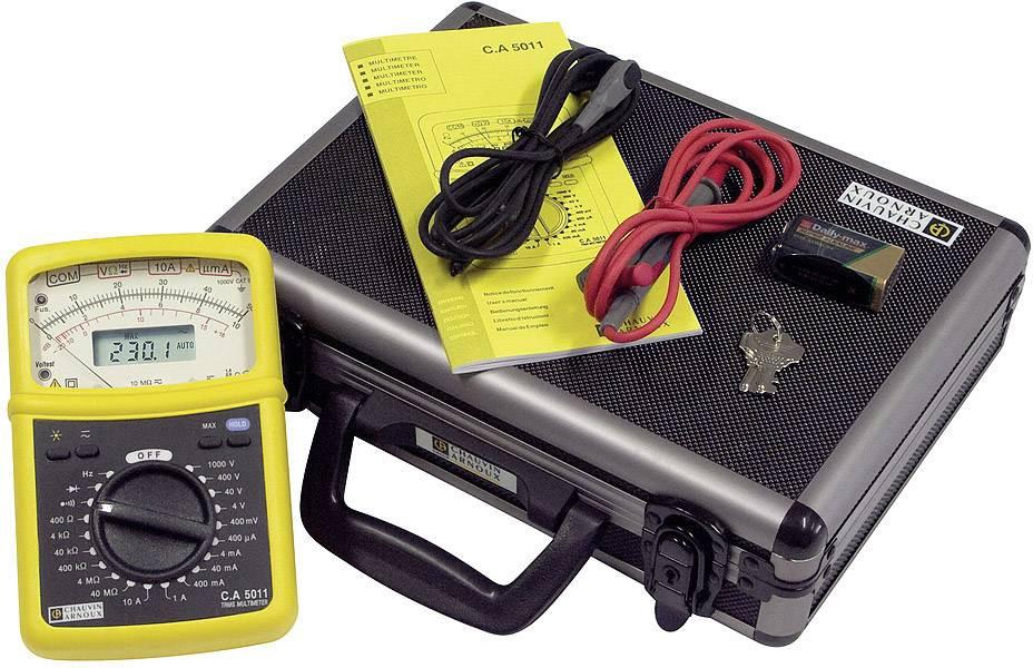 Digitální + analogový multimetr v kufru Chauvin Arnoux CAT III 1000 V, CAT IV 600 V, Displej (counts):4000