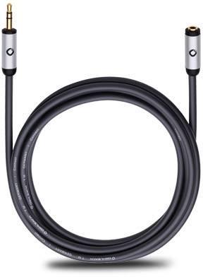 Jack audio predlžovací kábel Oehlbach 90586, 5 m, čierna