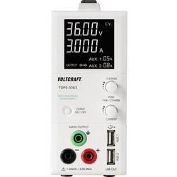 Laboratorní zdroj s nastavitelným napětím VOLTCRAFT TOPS-3363, 1 - 36 V/DC, 0.25 - 3 A, 100 W, Počet výstupů: 3 x