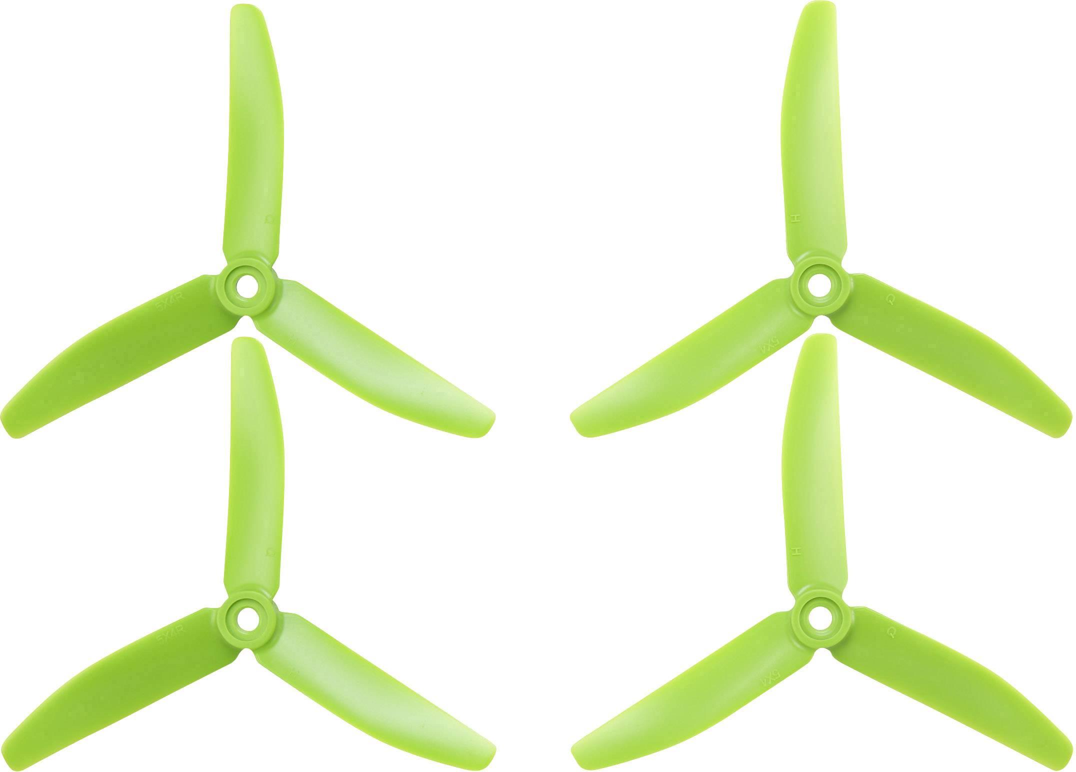 """Sada vrtulí racekoptéry HQ Prop 5 x 4 """" (12.7 x 10.2 cm) TP5X4X3G&TP5X4X3RG"""