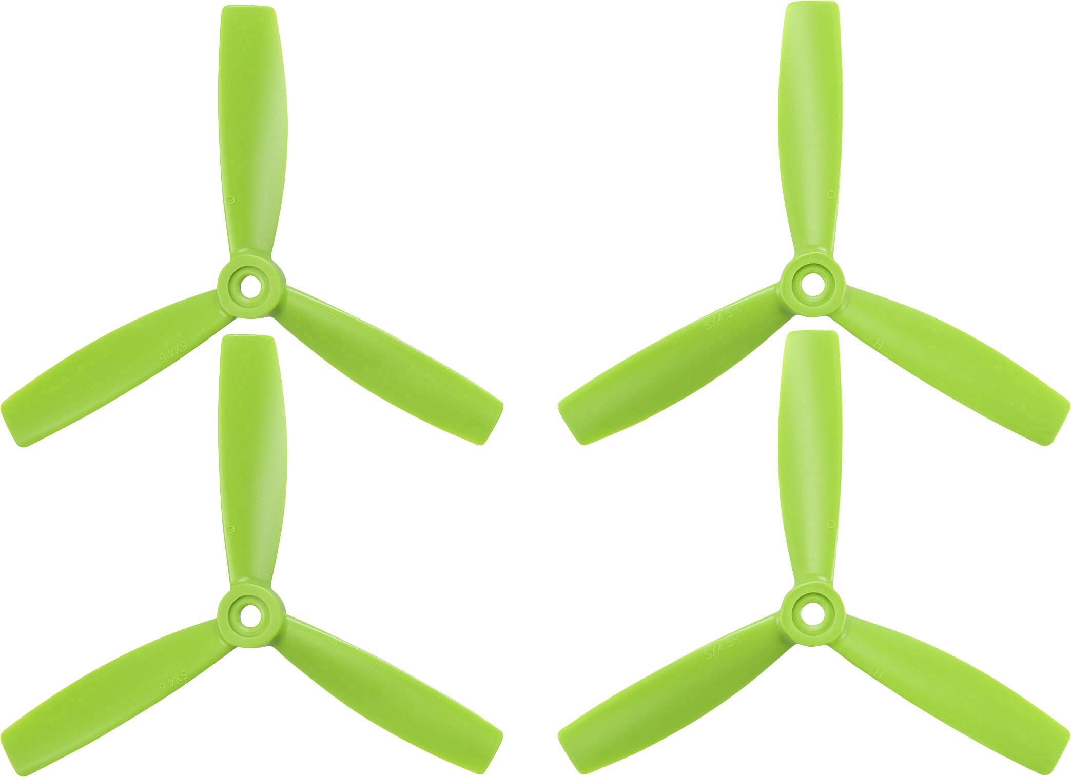 """Sada vrtulí racekoptéry HQ Prop 5 x 4 """" (12.7 x 10.2 cm) TP5X4.5X3G&TP5X4.5X3RG"""