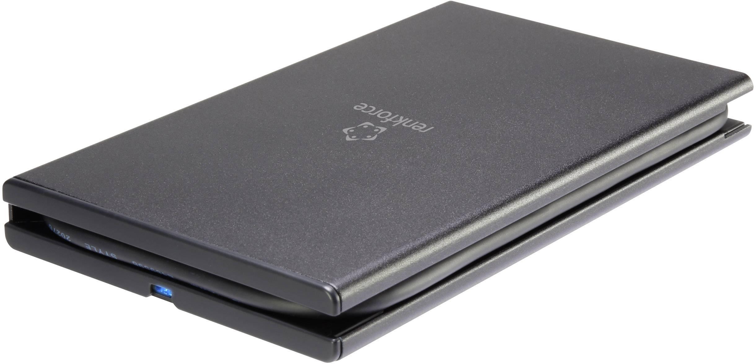 """Puzdro na pevný disk SATA 2.5 """" Renkforce RF-4300074, čierna"""