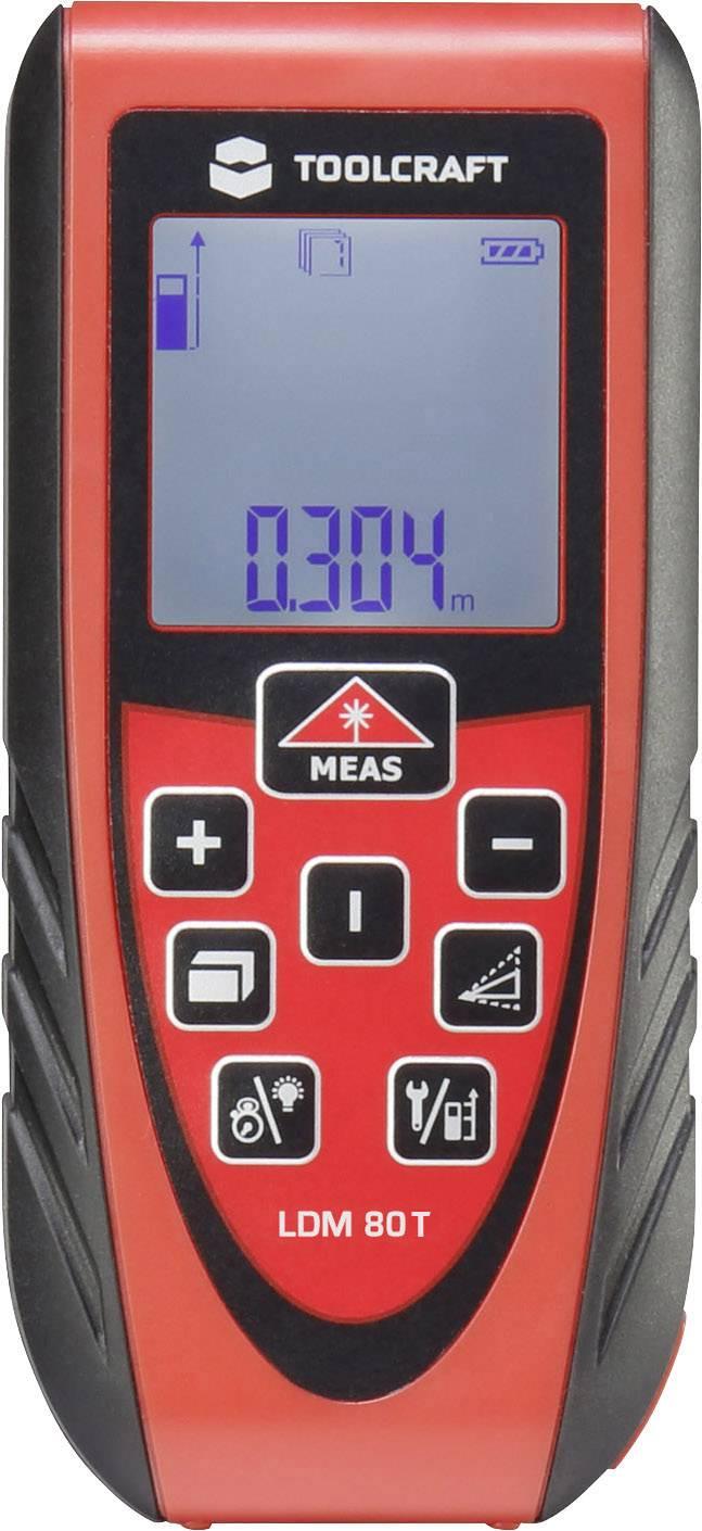 Laserový měřič vzdálenosti TOOLCRAFT LDM 80T, rozsah měření (max.) 80 m