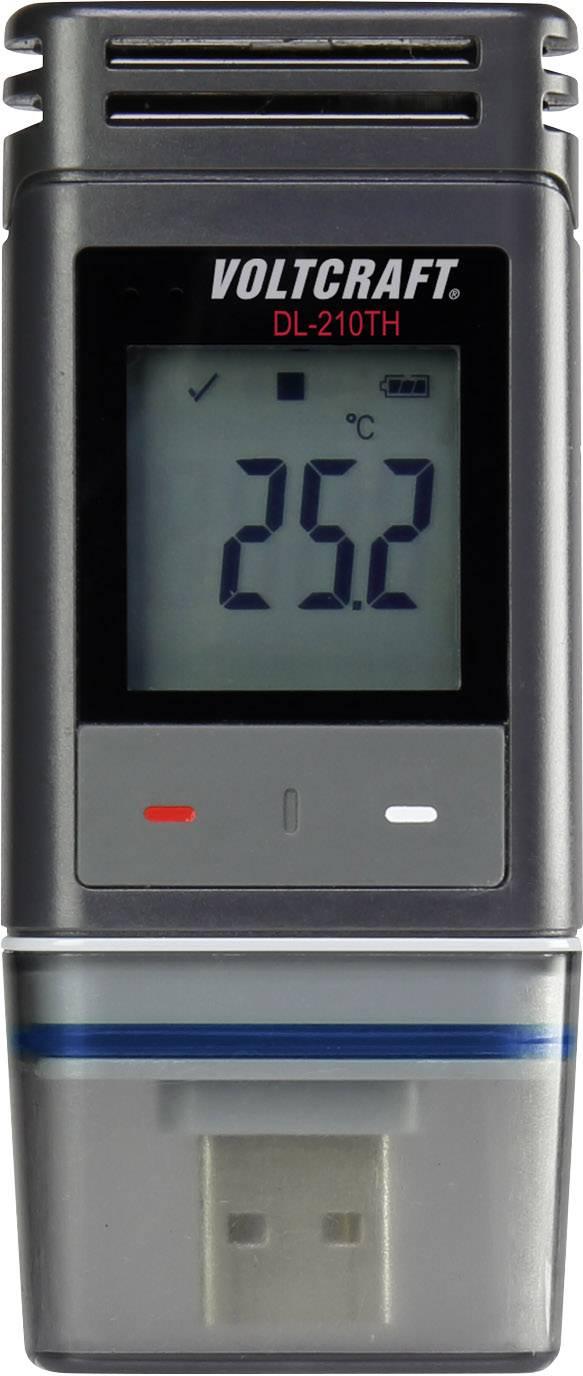 Teplotný datalogger, vlhkostný datalogger VOLTCRAFT DL-210TH, Merná veličina teplota