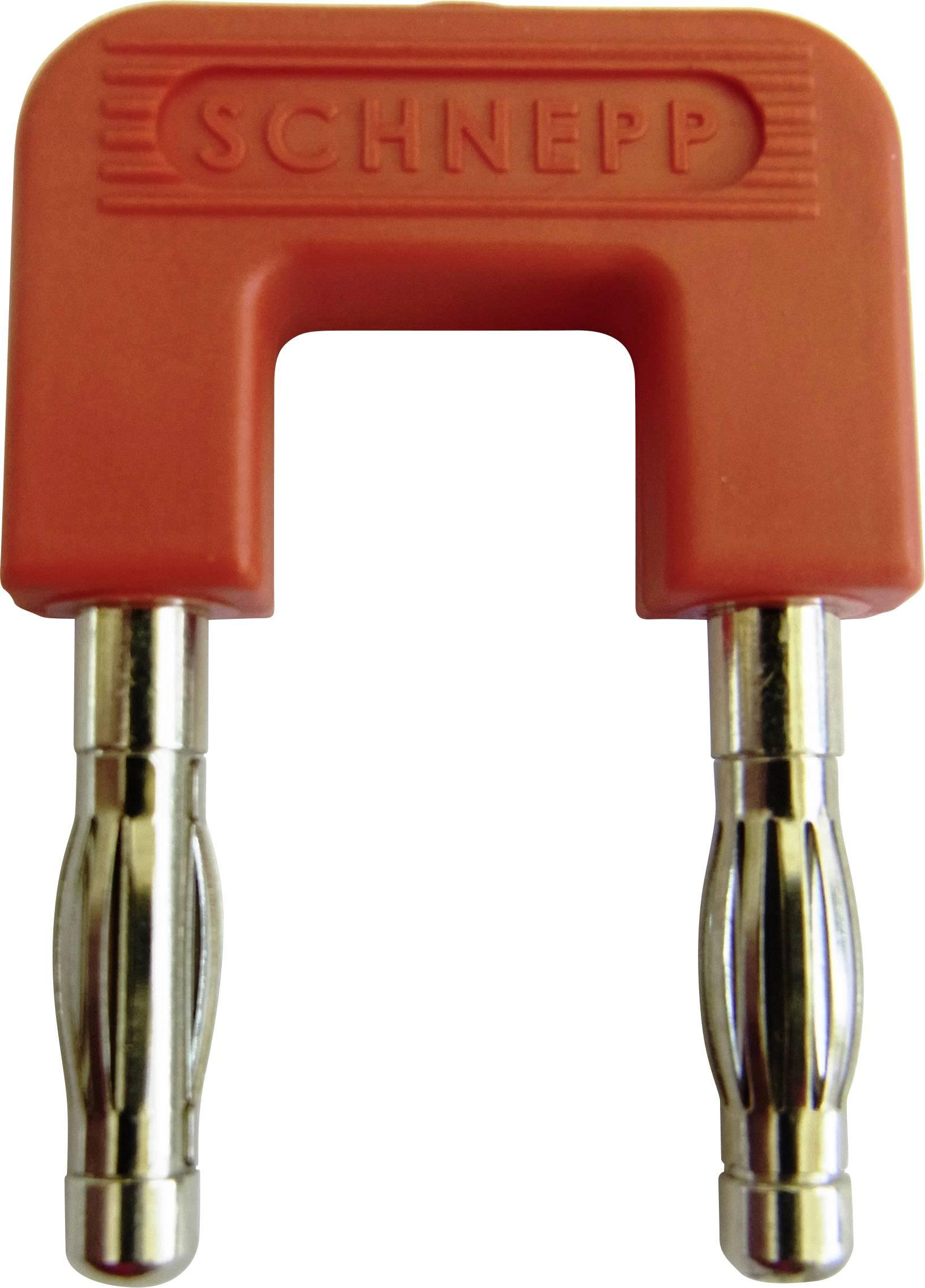 Zkratovací můstek Schnepp 19/4rt, Ø pin 4 mm, rozteč 19 mm, červená, 1 ks