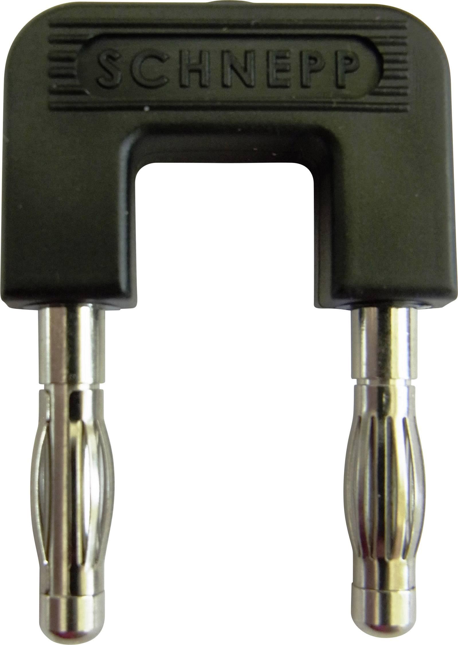 Skratovací mostík Schnepp 19/4sw, Ø hrotu 4 mm, rozostup hrotov 19 mm, čierna, 1 ks