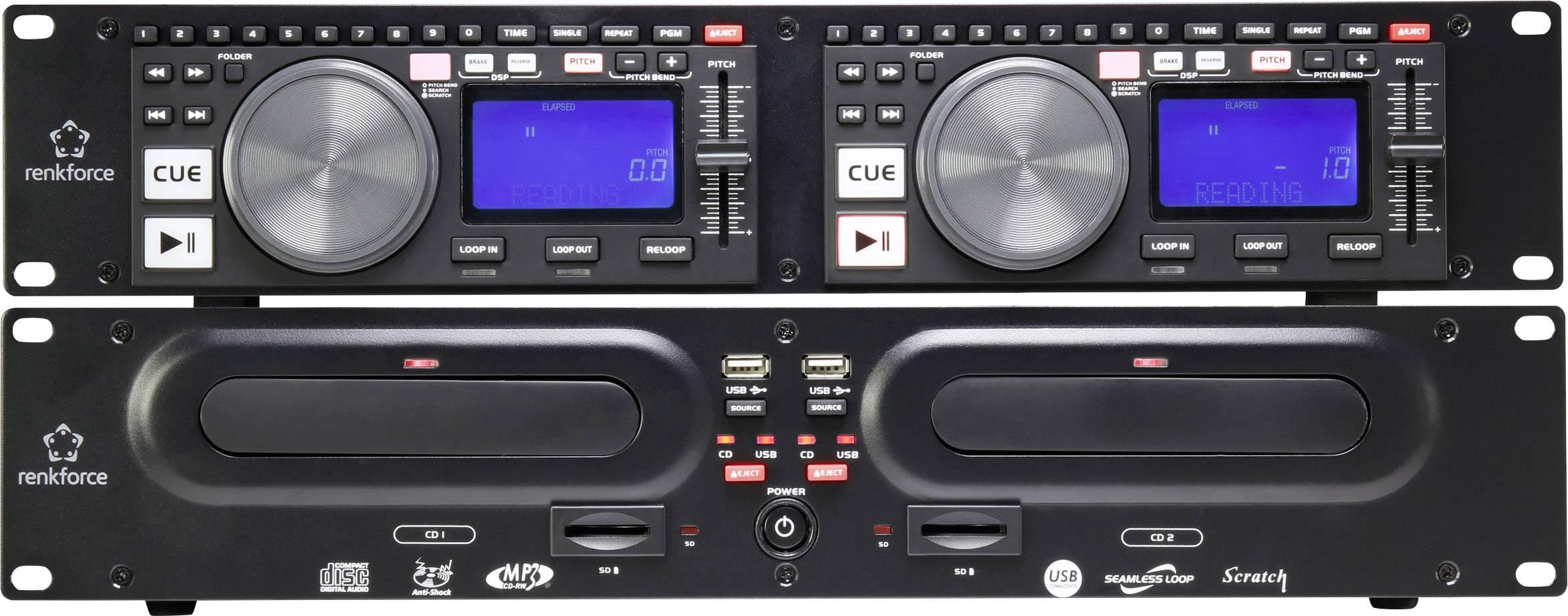Dvojitý CD prehrávač pre DJ Renkforce CMP-960 RF-4306698