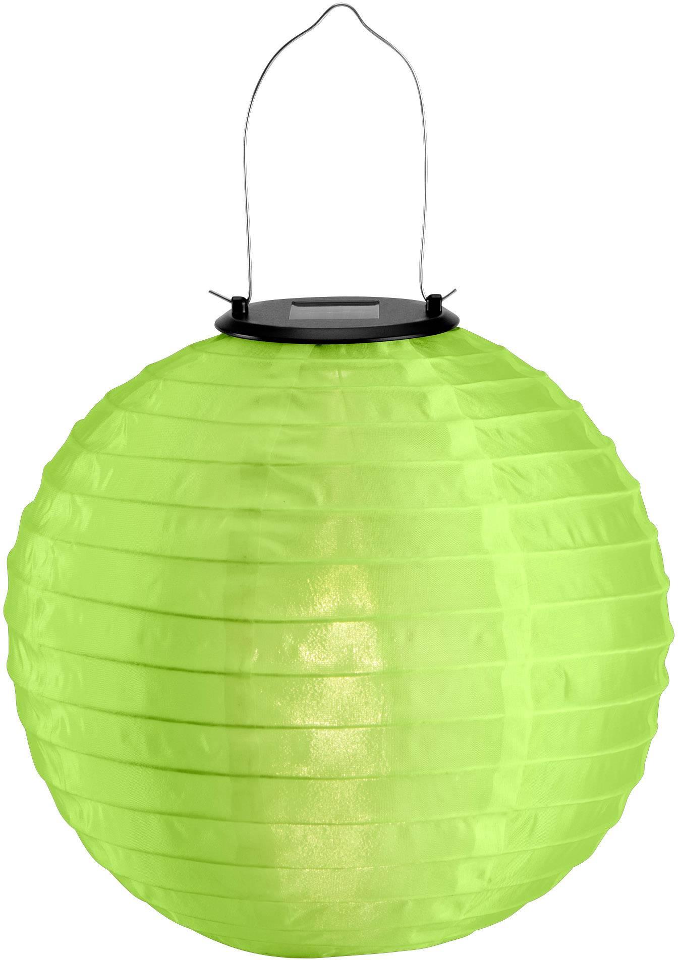 LED solárne dekoračné osvetlenie lampión Polarlite 0.06 W, IP44, zelená, teplá biela