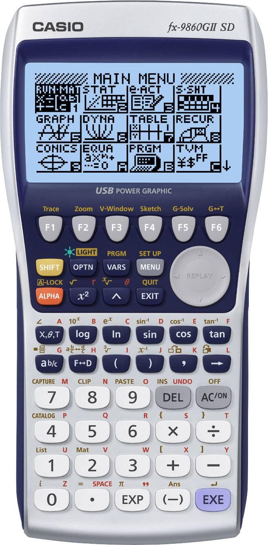 Fx-9860GII SD černostříbrná Casio FX-9860GIISD černostříbrná