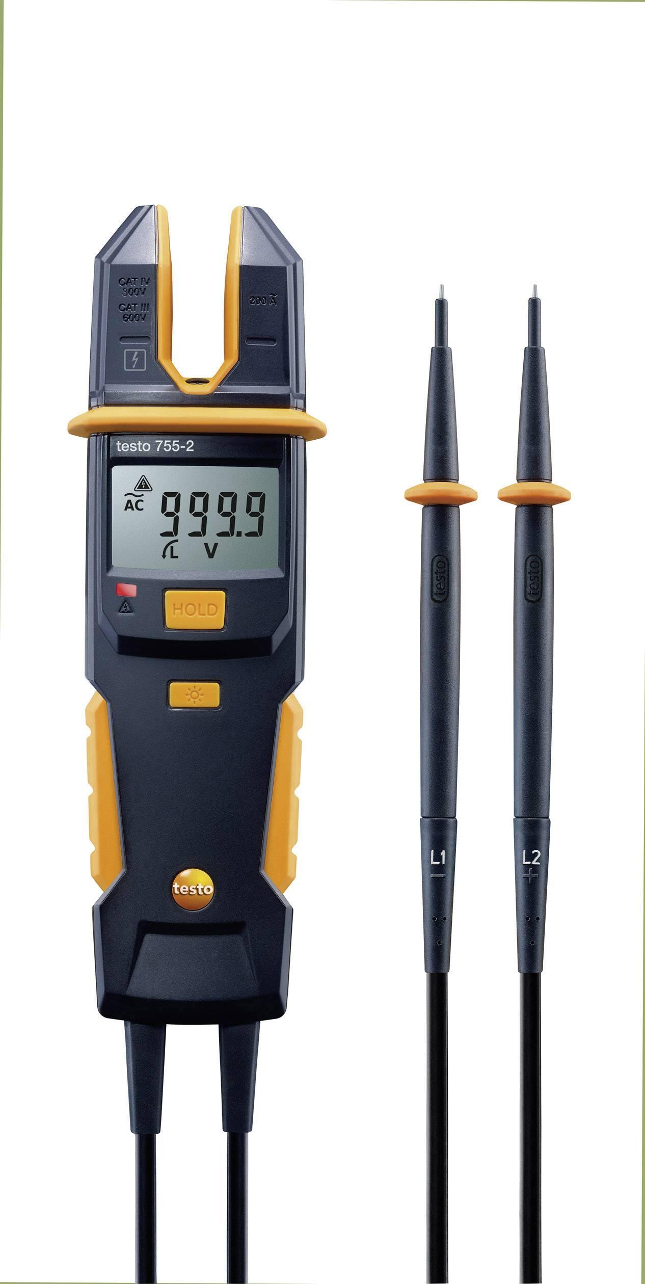 Digitálne/y ručný multimeter, prúdové kliešte testo 755-2 0590 7552