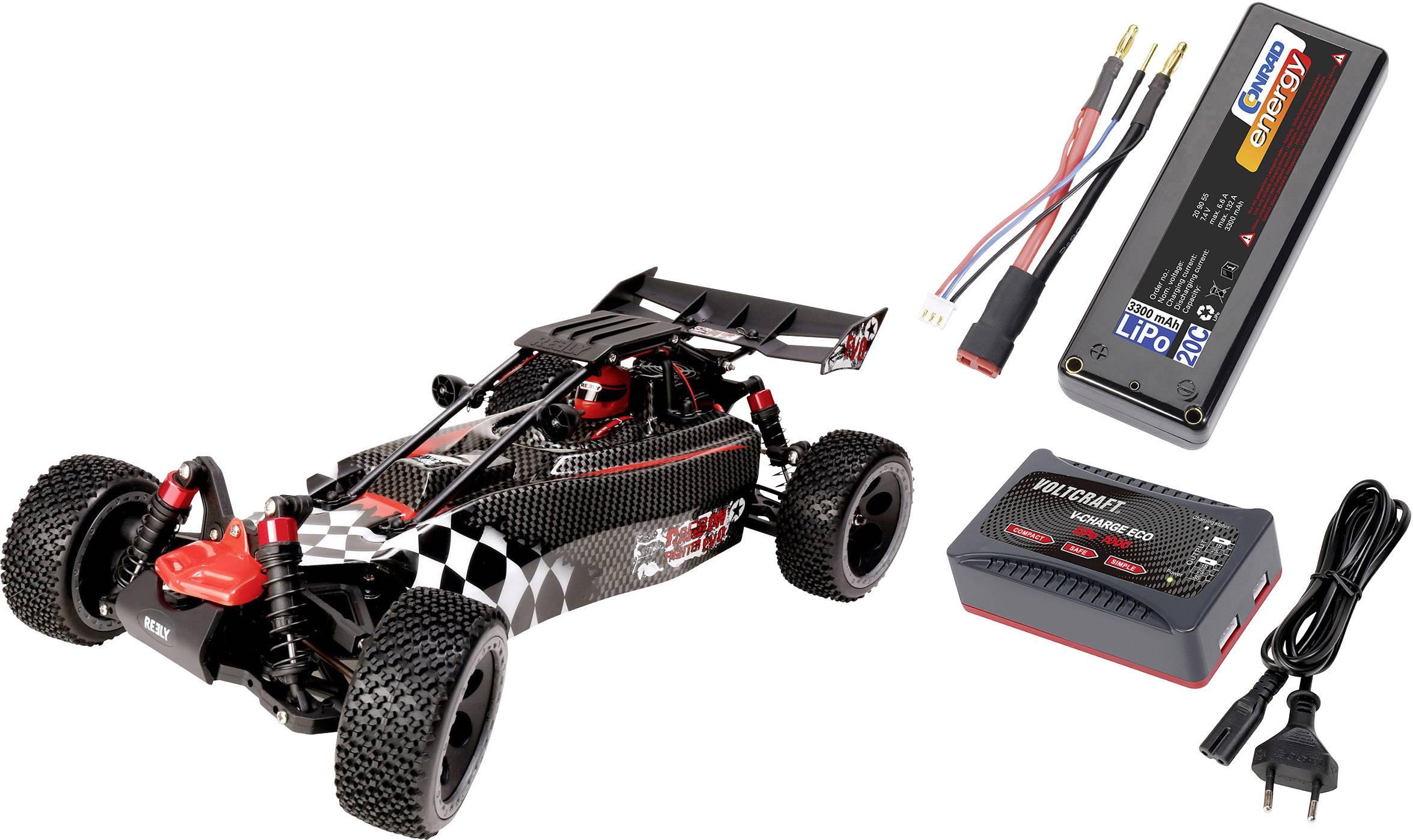 RC model auta buggy Reely Carbon Fighter EVO, bezkefkový, 1:10, 4WD (4x4), RtR, 35 km/h