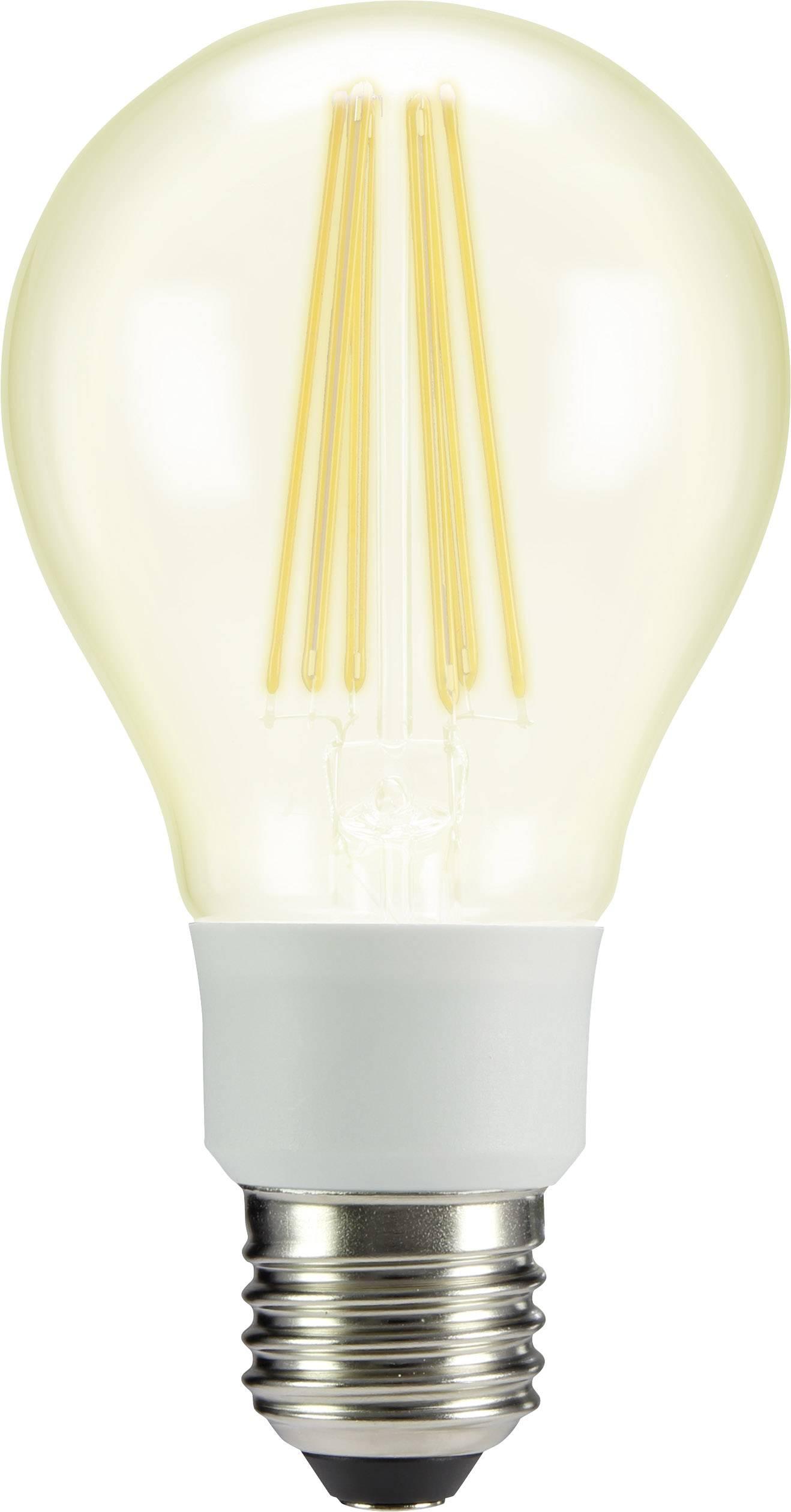 LED žárovka Sygonix STA6103clear 230 V, E27, 12 W = 100 W, teplá bílá, A++, vlákno, 1 ks