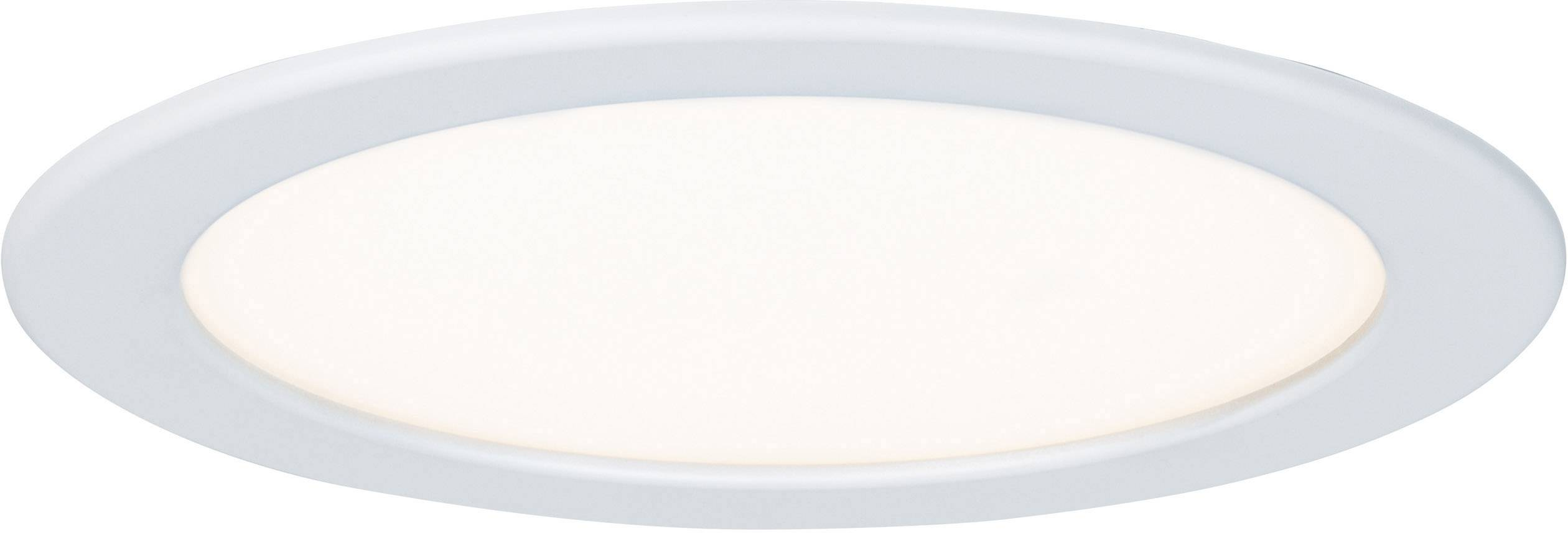 LED vestavné koupelnové svítidlo Paulmann 92063, 18 W, teplá bílá, bílá
