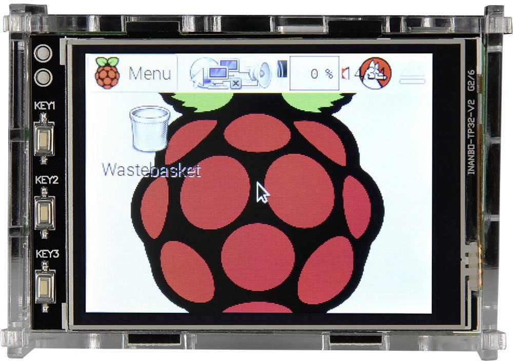 Kryt pro Raspberry Pi® Raspberry Pi 3.2TC pro dotykový displej, akrylová čirá