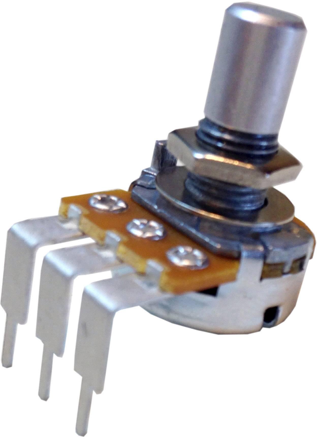 Otočný potenciometer mono Potentiometer Service GmbH RV16AF-41-15R1-B500k RV16AF-41-15R1-B500k, 0.2 W, 500 kOhm, 1 ks