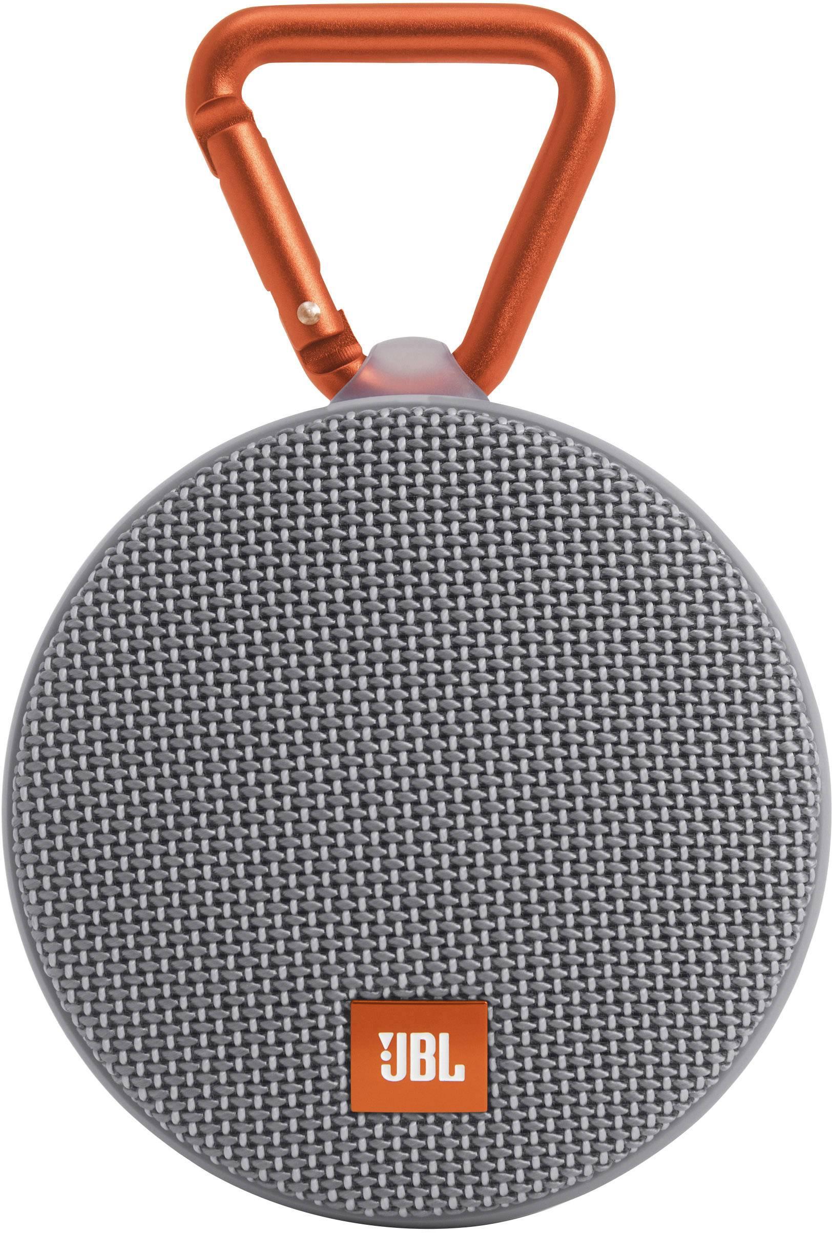 Vodotesný Bluetooth® reproduktor JBL Harman Clip 2, sivá