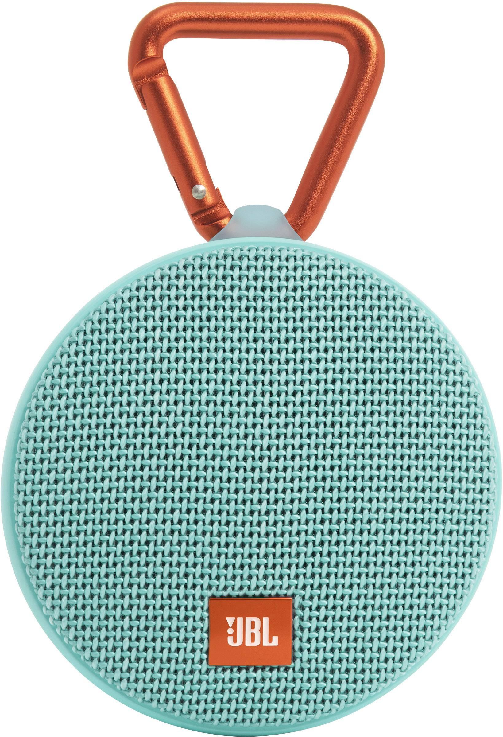 Vodotesný Bluetooth® reproduktor JBL Harman Clip 2, tyrkysová