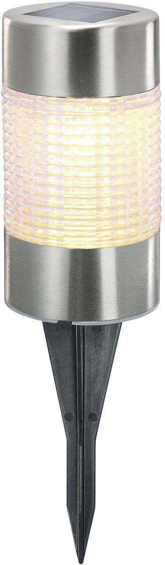 LED solární zahradní svítidlo Esotec Puc Light 102608, IP44, nerezová ocel, teplá bílá