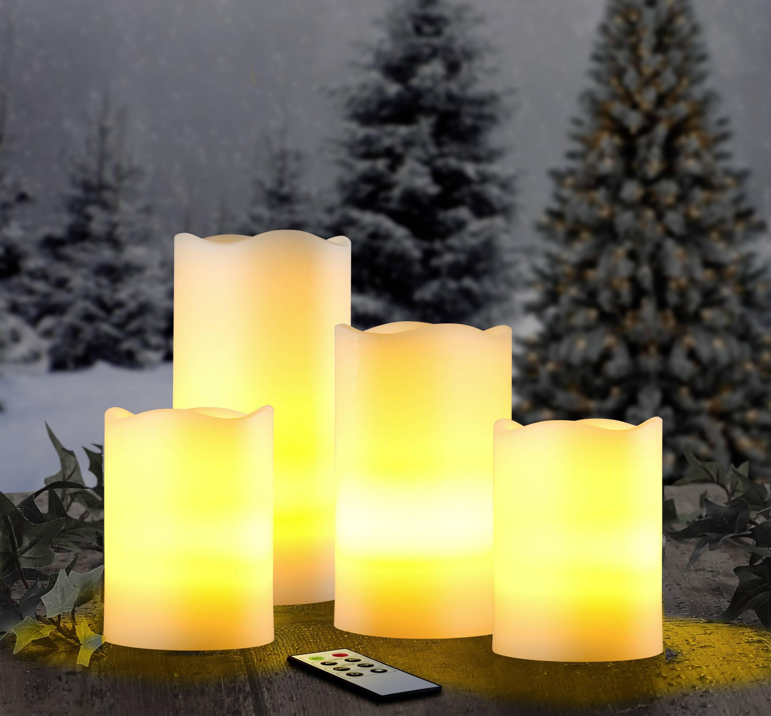 Vnitřní/venkovní LED svíčky Polarlite 001438214, 3 ks, bílá