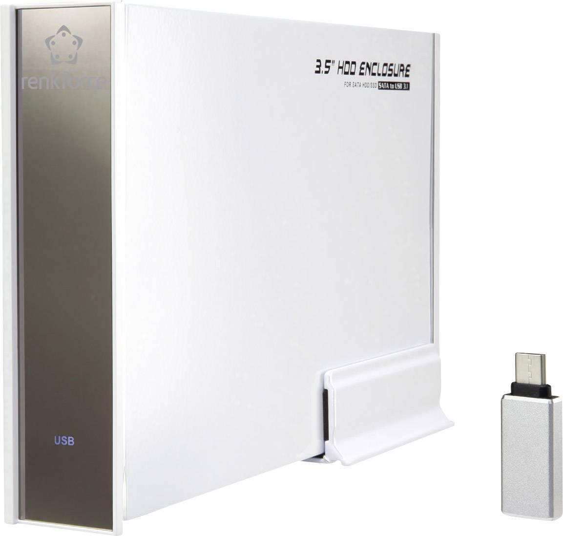 """Puzdro na pevný disk SATA 3.5 """" Renkforce RF-4315122, USB 3.1"""