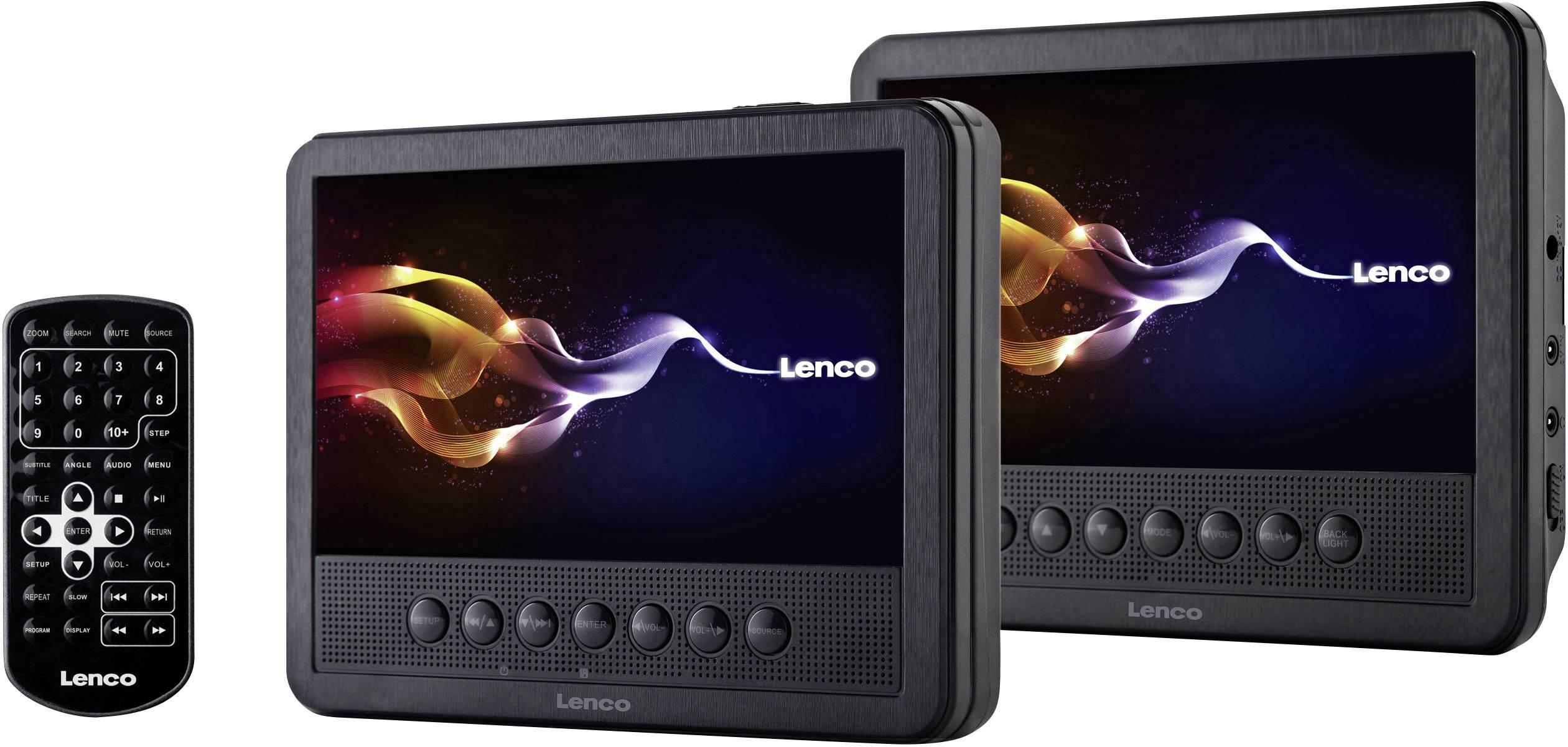 "DVD přehrávač do opěrek hlavy Lenco MES-212, 2 x LCD, 17.5 cm (7 "")"