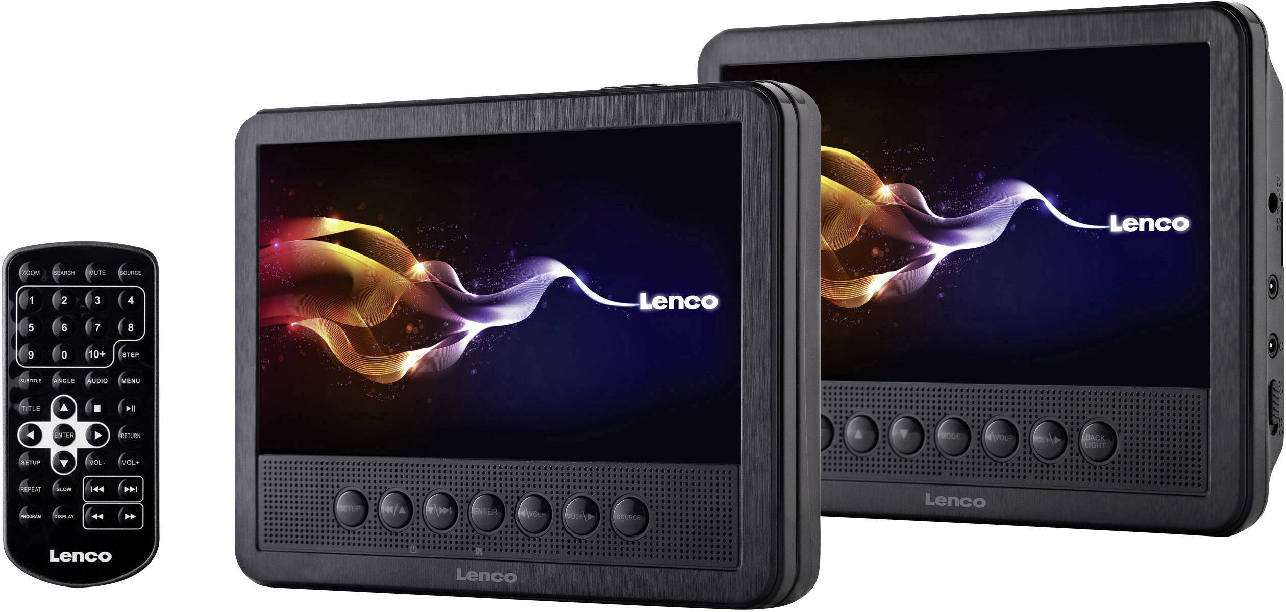 DVD prehrávač do opierok hlavy, 2x LCD Lenco MES-212