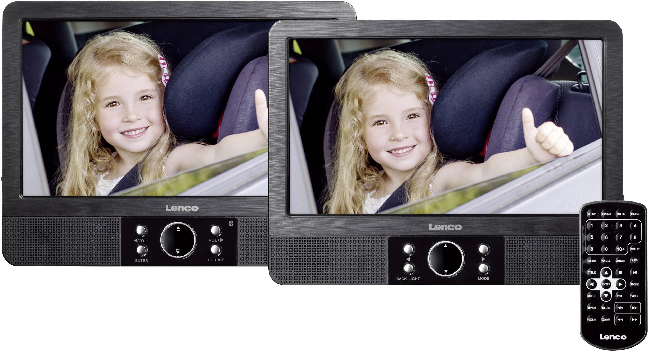"DVD přehrávač do opěrek hlavy, 2x LCD Lenco MES-405, 22.5 cm (9 "")"