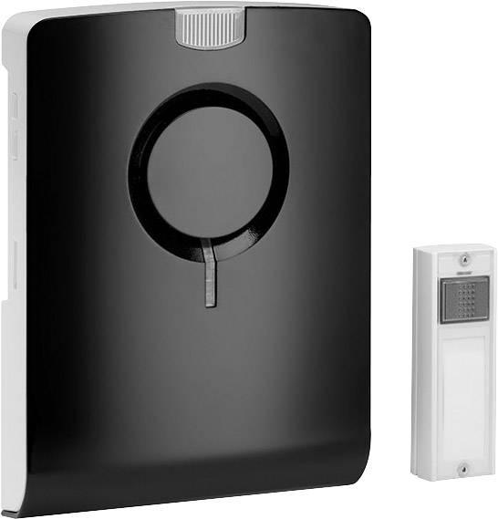 Bezdôtový zvonček Grothe ECHO 43501, kompletná sada, max. dosah 500 m, čierna