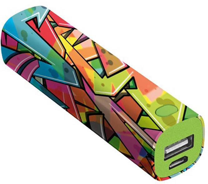 Powerbanka Trust Urban Revolt Powerstick Graffiti Arrows, Li-Ion akumulátor, 2600 mAh