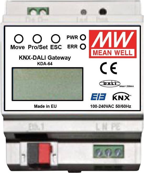 Síťový zdroj na DIN lištu Mean Well KDA-64, 7 W