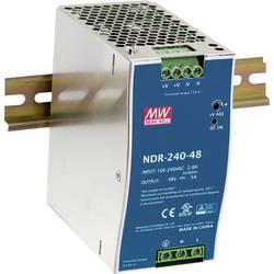 Sieťový zdroj na montážnu lištu (DIN lištu) Mean Well NDR-240-48, 1 x, 240 W