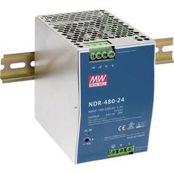 Sieťový zdroj na montážnu lištu (DIN lištu) Mean Well NDR-480-48, 1 x, 480 W