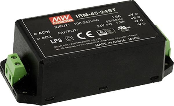 Sieťový zdroj AC/DC do DPS Mean Well IRM-45-15ST, 45 W