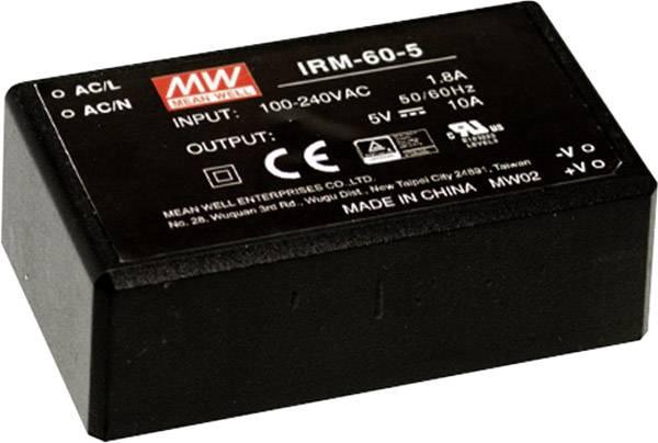 Sieťový zdroj AC/DC do DPS Mean Well IRM-60-12, 60 W