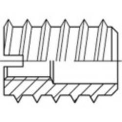 Závitová vložka TOOLCRAFT 144031, N/A, M6, 15 mm, ocel, 100 ks