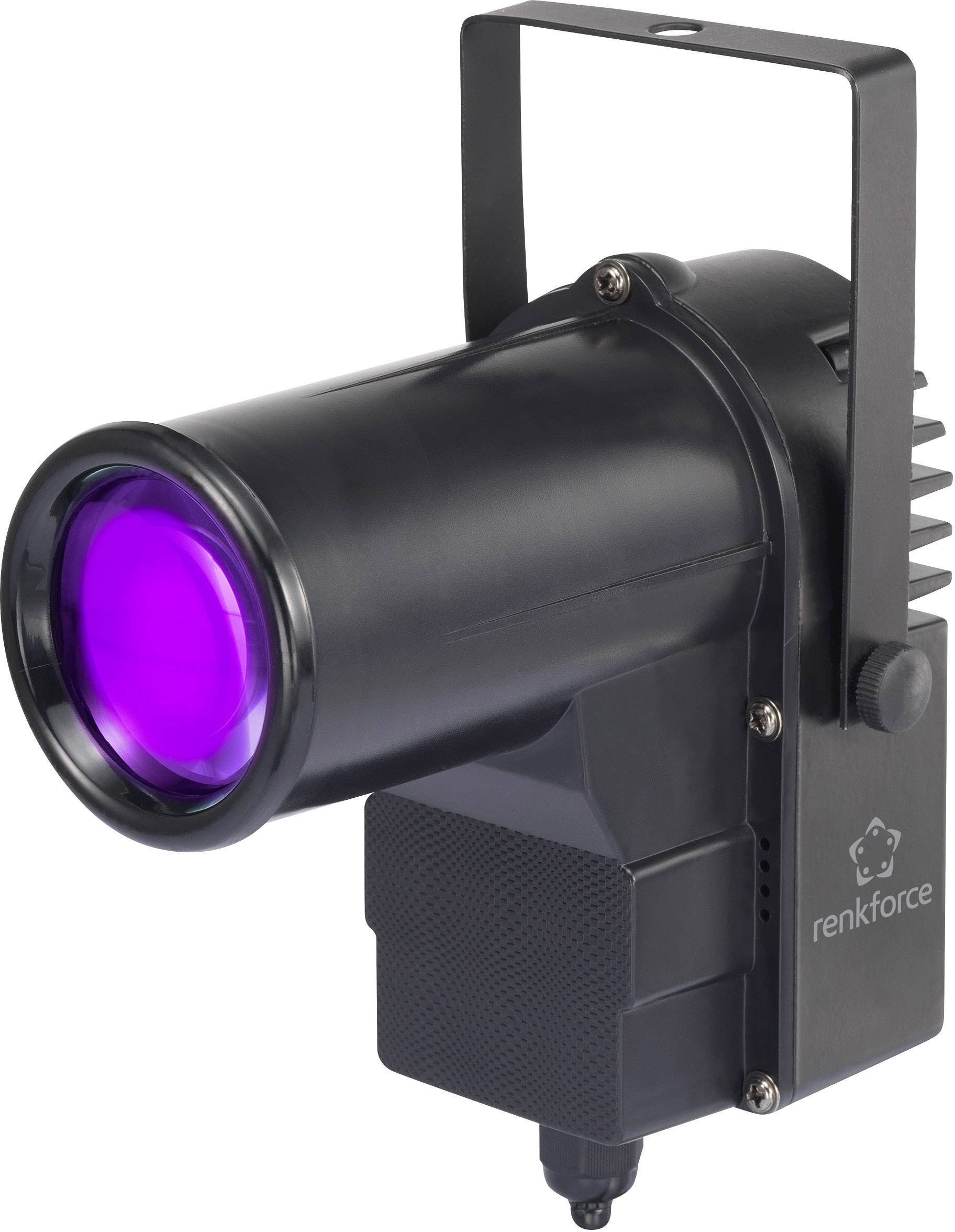 LEDPin-spot Renkforce GM502 8 W, čierna