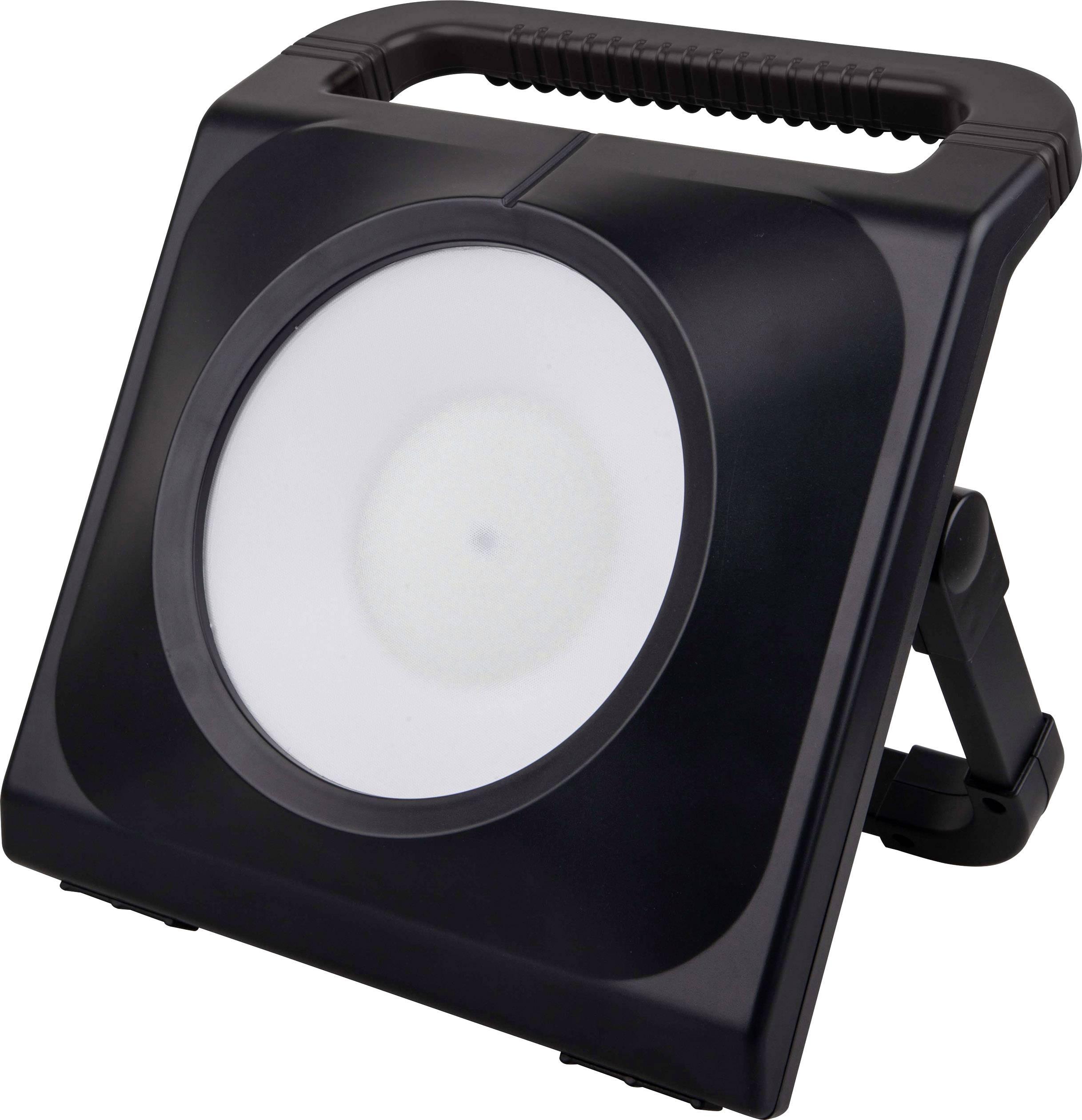 LED pracovní osvětlení se 2 zásuvkami TOOLCRAFT, 230 V, 50 W, černá