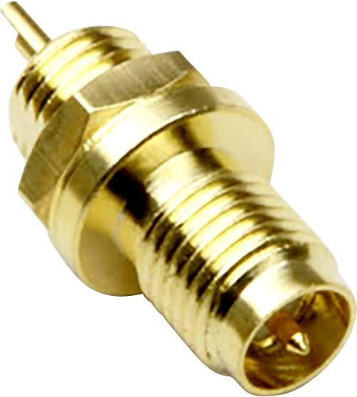 SMA Reverse konektor zásuvka, vstavateľná vertikálna BKL Electronic 0419011, 50 Ohm, 1 ks