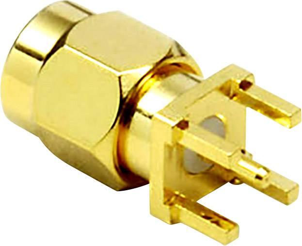 SMA Reverse konektor zástrčka, vstaviteľná vertikálna BKL Electronic 0409061, 50 Ohm, 1 ks