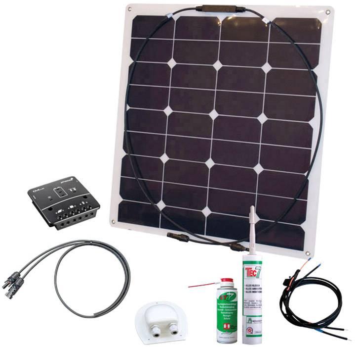 Odolná solární sada Phaesun Energy Kit Flex Rise Three 600292, 50 Wp, vč. kabelu, vč. nabíjecího regulátoru, Vhodné do obytného vozu a člunu