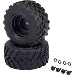 Kompletné kolesá V-Block Reely 12056+12618 pre monster truck, 96 mm, 1:10 XS, 2 ks, čierna