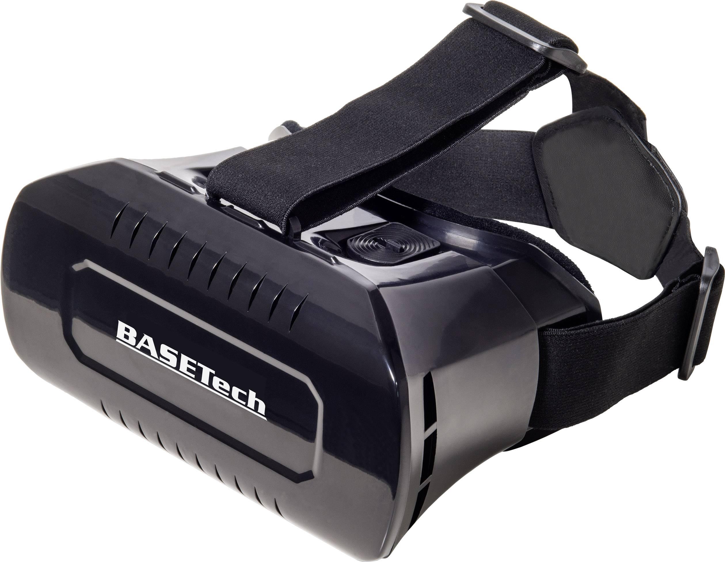3D okuliare pre virtuálnu realitu Basetech VR Pro, čierna