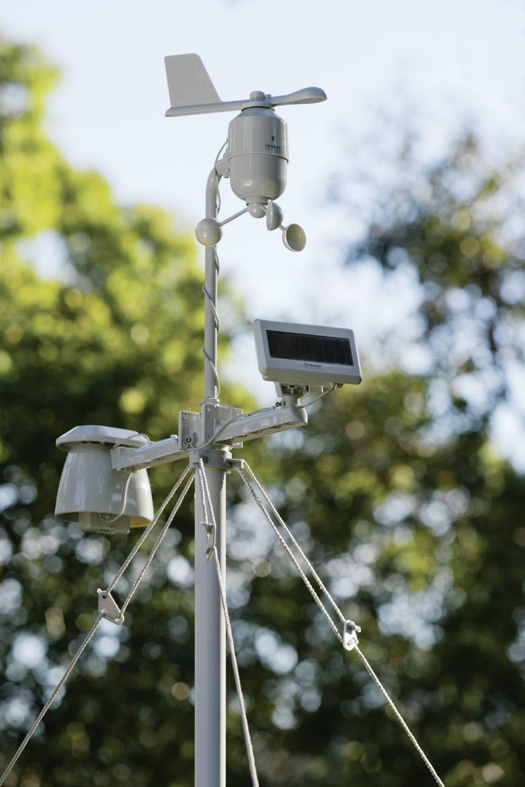 Digitální bezdrátová meteostanice Oregon Scientific WMR89 Professional WMR89, černá, stříbrná