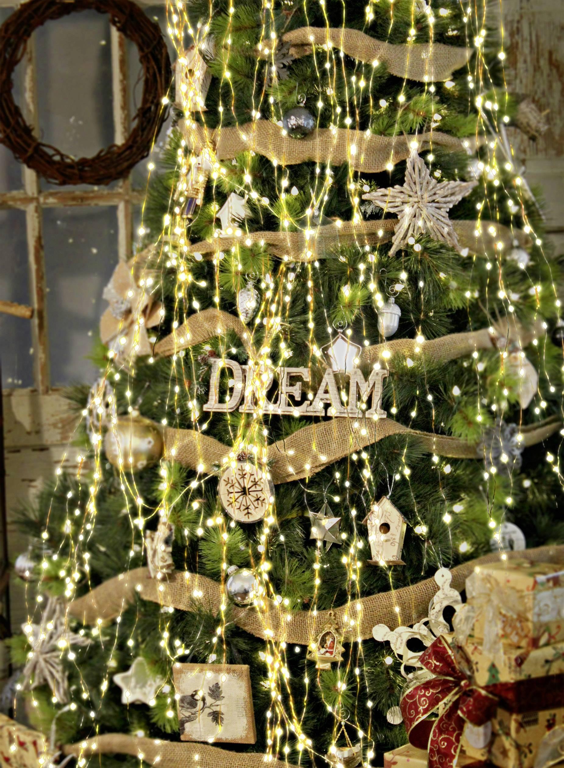 LED LED svetelný plášť na vianočný stromček Polarlite vnútorné 230 V, 240, teplá biela, neutrálne biela, 8 m