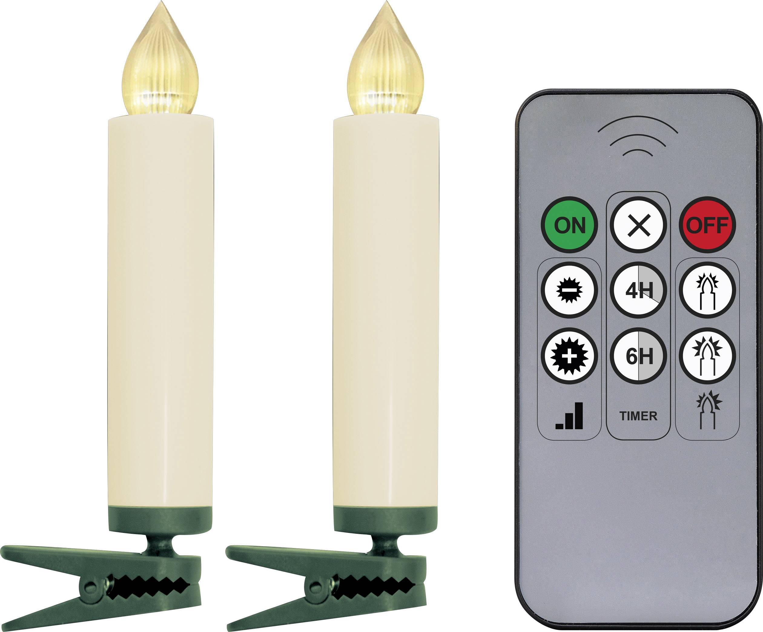 Vnútorné LED bezdrôtové osvetlenie vianočného stromčeka na batérie Polarlite LBA-30-003a, 10 LED, teplá biela, 9.5 cm